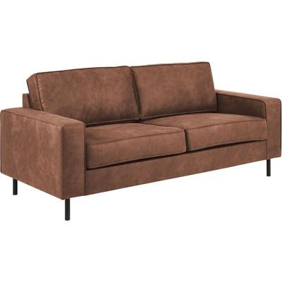 Sandö 2,5-sits soffa - Cognac ecoläder