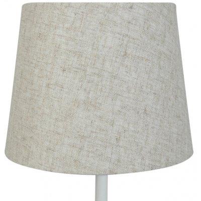 Rund lampskärm 18x23x18 cm - Beige (grovt linne)