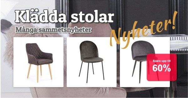 Klädda stolar - Massor av nya sammetsstolar!