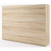 Sängskåp compact living Horisontellt (140x200 cm fällbar säng) - Ljus ek