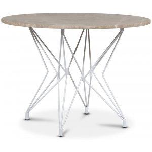 Zoo matbord Ø105 cm - Vit / Beige Empradore