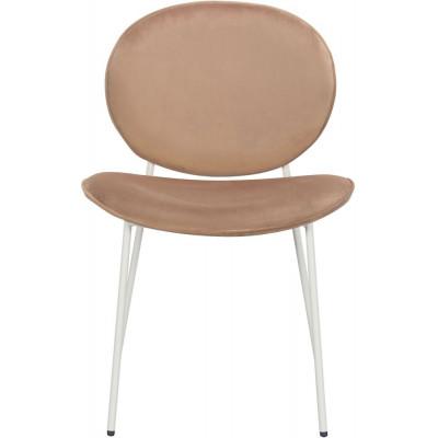 Rondo stol - Ljusbrun (sammet)/vit