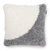Curly kuddfodral fårskinn - Silvergrå/vit