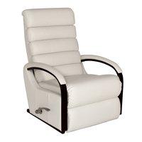Lazboy Norman reclinerfåtölj i skinn / PU - vit