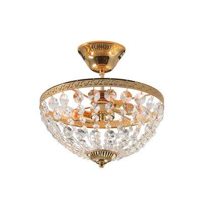 Hanaskog Taklampa - Guld/Kristall