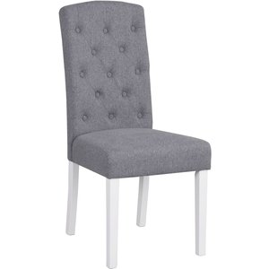 Aubree stol - Ljusgrå/vit