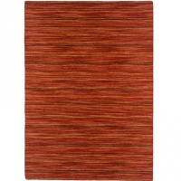 Handvävd matta - Himalaya - Orange - Ull