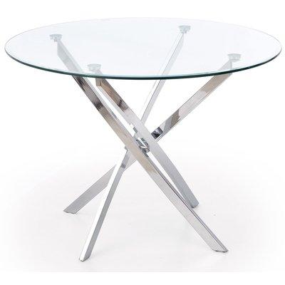 Trend 4 bord - Glas/Krom