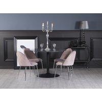 Plaza velvet stol Ljusrosa Krom 799 kr Trendrum.se
