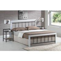 Säng Covina 160x200 cm - Vit/svart