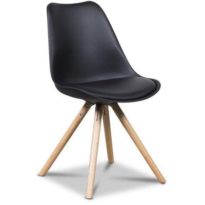 Twist stol - Svart/ek