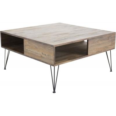 Krågeholm soffbord - Teak/svart