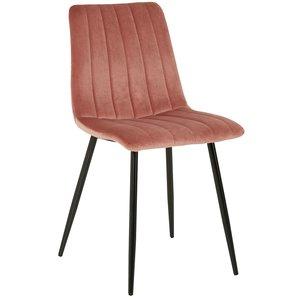 Kayla stol - Rosa sammet