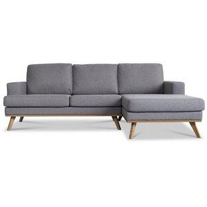 Norwich 2-sits soffa med öppet avslut - Ljusgrå