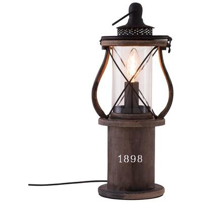 1898 bordslampa - Mörk trä