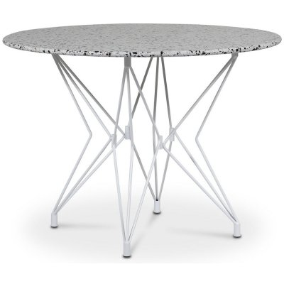 Zoo matbord Ø105 cm - Vit / Terrazzo Cosmos