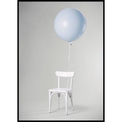 BLUE BALLOON - Poster 50x70 cm