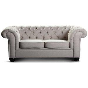 Chesterfield York 3-sits soffa - Valfritt tyg