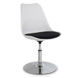 Caroline III stol - vit/svart