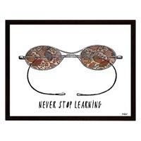 Tavla glasögon - Svart ram