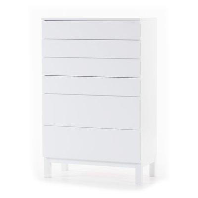 Österlen byrå med 6 lådor - vit
