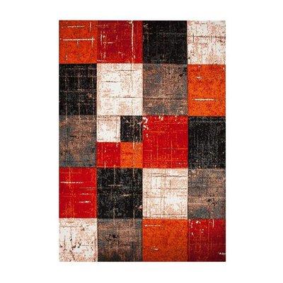 Maskinvävd matta Aversa - Röd