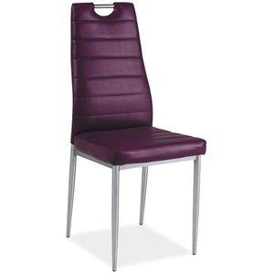 Priscilla stol - Violett/krom