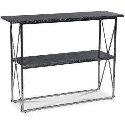 Paladium konsolbord - Krom / Äkta grå marmor