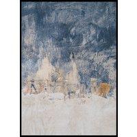 BLUE, WHITE & GOLD - Poster 50x70 cm