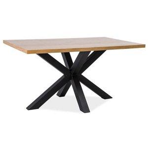 Matbord Finley 150 cm - Massiv ek/svart