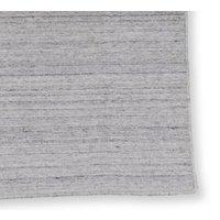 Handvävd ullmatta Island - Silver/vit - 140x200 cm