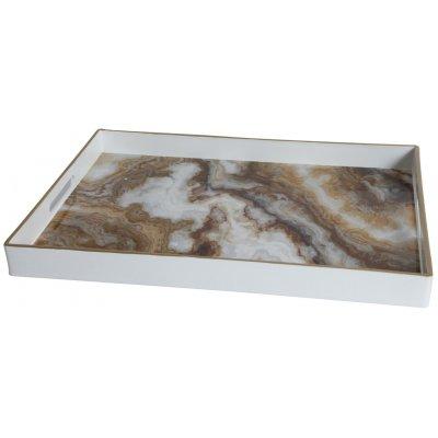 Marmor serveringsbricka - Brun marmor