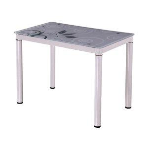 Anastasia matbord 80 cm - Vit