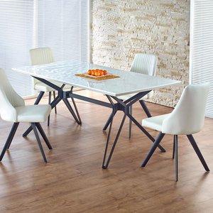 Berta matbord 160 cm - Vit/svart
