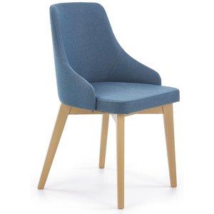 Catrin matstol - Blå (Tyg) / Trä