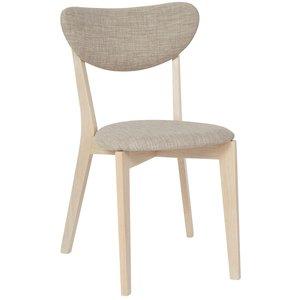 Nordic stol - Whitewash ek / Beige tyg