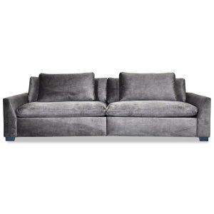 Monza 4-sits soffa - Grå (Sammet)