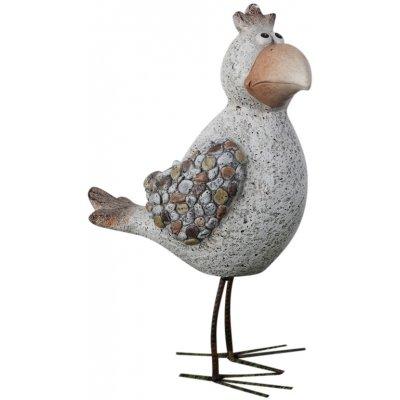 Trädgårdskonst stående fågel - H43 cm