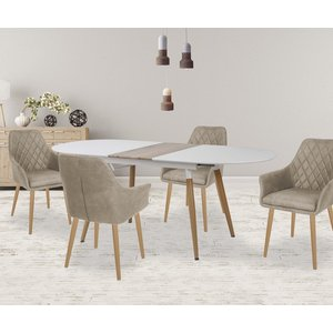 Preston matbord utdragbart - Vit/sanremo ek