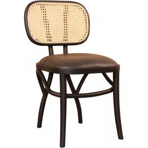 Siknäs stol - Svart/svart PU