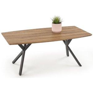 Lise soffbord - Rustik ek/svart