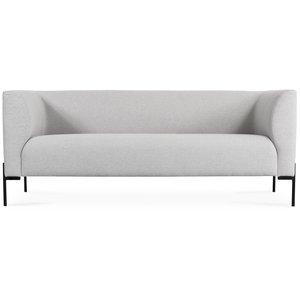 Mistral 3-sits soffa - Ljusgrå (Tyg)