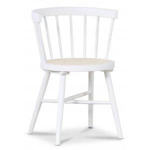 Juno matstol med rotting sits - Vit