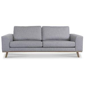 Stockholm 3-sits soffa - Grå/Ek