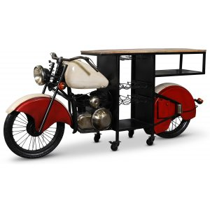 Glider motorcykel barbord/bardisk - Metall/mango