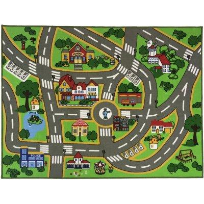 Barnmatta Play - Grön - 133x175 cm