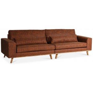 Ranger 4-sits soffa - Polyester / Oljad ek