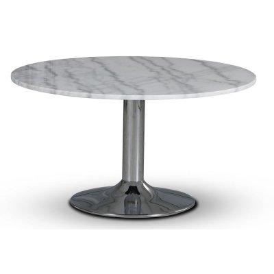 Empire matbord - Ljus marmor / Kromad trumpetfot