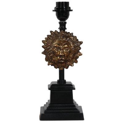 Lejon lampfot H36 cm - Svart / Guld