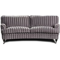 Howard Sir William svängd soffa (Dun) - Mobus Silver Stripe